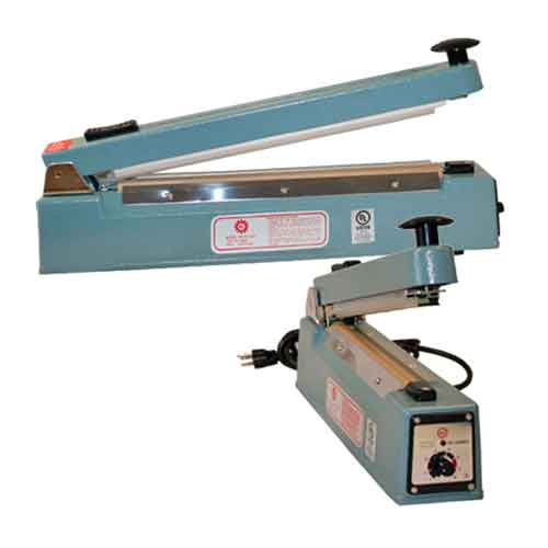 Both Table Top And Foot Operated Models Bag Tapers Are Intended For Use With 3 8 5 Sealing Tape Secure Closure Of Flat Poly Bags